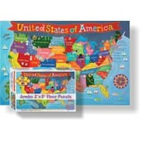 Round World Products  24 x 36 in. United States Floor Puzzle for Kids