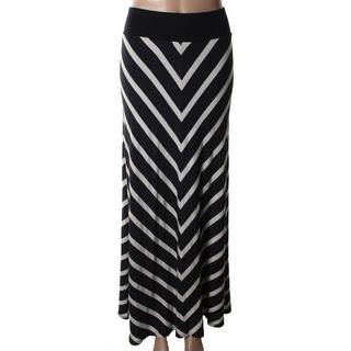 Stanzino Women 39 S Black And White Chevron Maxi Skirt Free Shipping On Orders Over 45