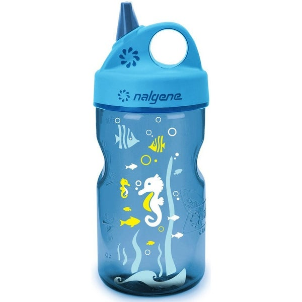shop nalgene tritan grip 39 n gulp water bottle 12 oz seahorse blue blue free shipping on. Black Bedroom Furniture Sets. Home Design Ideas