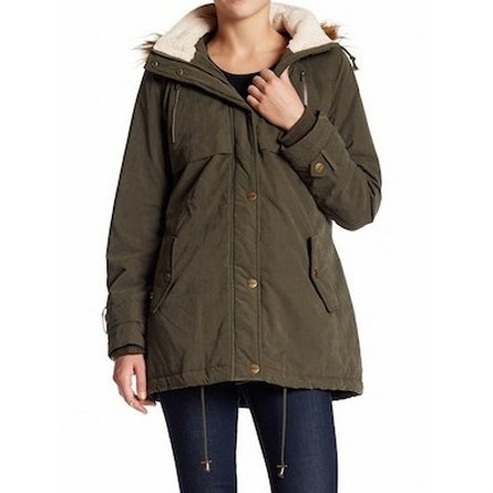 0fff94767bd Shop DKNY NEW Green Olive Women s Size Large L Faux-Fur Trim Anorak Jacket  - Free Shipping Today - Overstock - 18361920