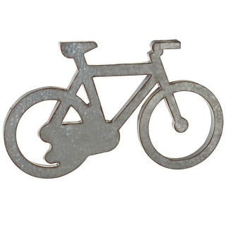 """Set of 2 Metallic Gray and Brown Distressed Galvanized Bicycle Wall Decor 30"""" - N/A"""