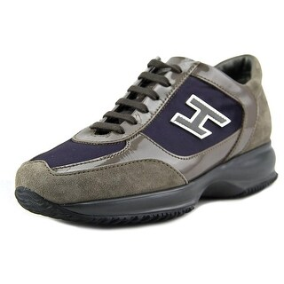 Hogan Interactive H Flock Piccola Round Toe Suede Tennis Shoe