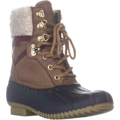 Tommy Hilfiger Womens Rian 2 Faux Fur Closed Toe Mid-Calf Cold Weather Boots
