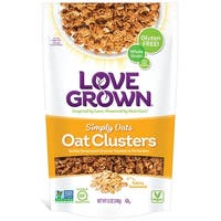 Love Grown Foods Oat Clusters - Simply Oats - Case of 6 - 12 oz.