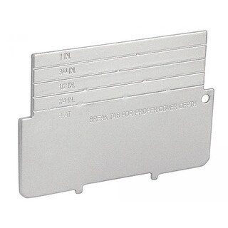 10 Pcs, Device Partition for 2-1/8 in. Deep, 4 in. Square Junction Box with 1/2, 3/4 or 1 in. Raised Cover, Zinc Plated Steel