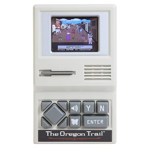 Uncle Milton The Oregon Trail Video Game - Handheld Version of Classic PC Game - Gray