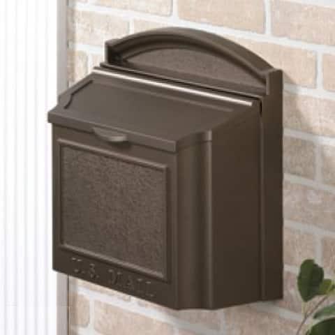 Whitehall Wall Mounted Locking Mailbox (French Bronze)