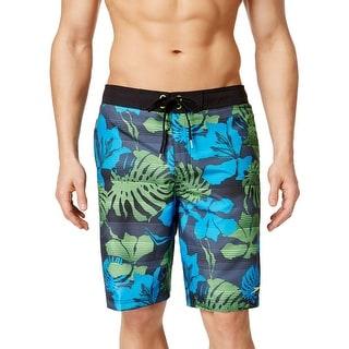 Speedo Mens Tropical Print Drawstring Swim Trunks