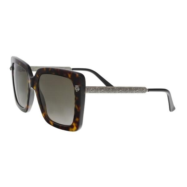 5a80492a014b Shop GUCCI GG0216S 002 Havana Oversized Square Sunglasses - Free ...