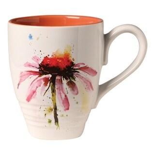 Demdaco Dean Crouser Artwork Flowering Echinacea Coffee Mug Tea Mug - 16 oz. Ceramic - 3 in. x 4.25 in. x 3.75 in.