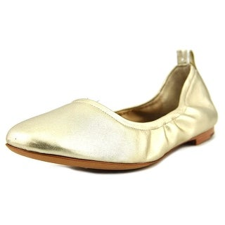 Marc Fisher Frey Women Round Toe Synthetic Gold Ballet Flats