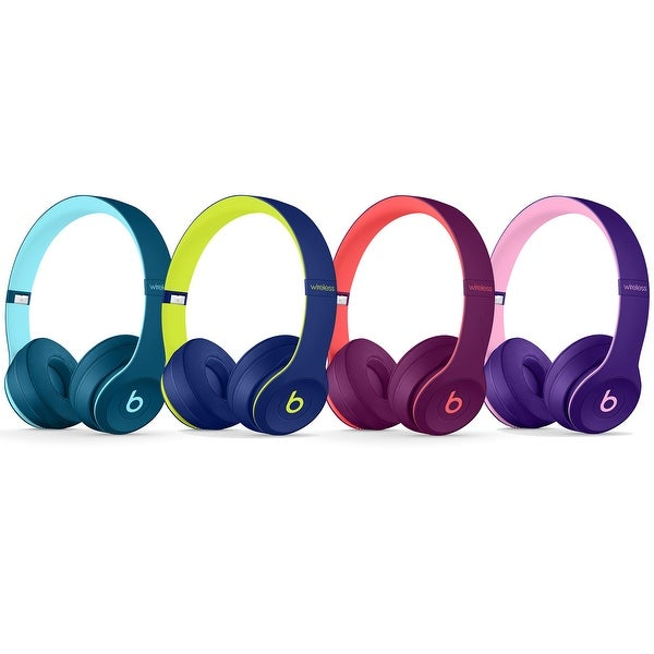 Beats Solo3 Wireless On-Ear Headphones - Beats Pop Collection. Opens flyout.