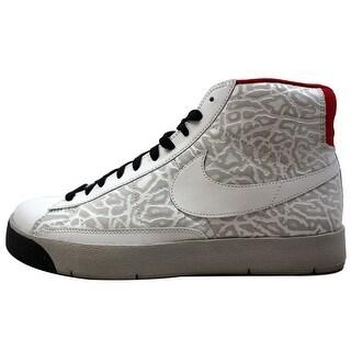 Nike Men's Blazer Hi Premium White/White-Granite-Black 316382-111