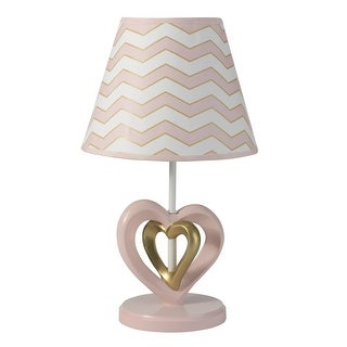 Lambs & Ivy Pink Baby Love Lamp with Shade & Bulb