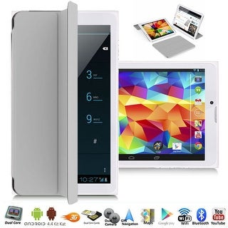 """Indigi® A76 Factory Unlocked 7.0"""" Dual-Core 2-in-1 SmartPhone+TabletPC w/ Android 4.4 KitKat DualSim WiFi + Smart Cover (Grey)"""