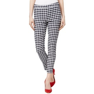 Maison Jules Gingham Print Pull-On Pants - XS