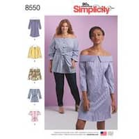 20W-28W - Simplicity Misses And Women's Dress; Tunic & Top