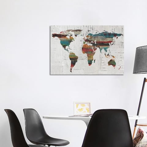 """iCanvas """"Painted World Map IV"""" by Irena Orlov Canvas Print"""