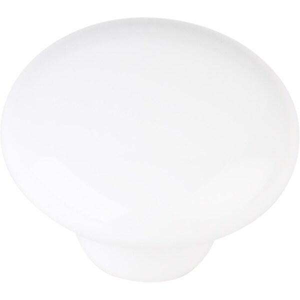 "Elements 33853 Tempo 1-1/4"" Diameter Mushroom Cabinet Knob - White"