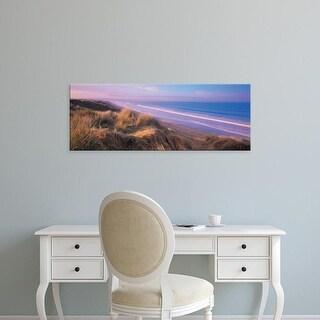 Easy Art Prints Panoramic Images's 'Tide on the beach, Saunton, North Devon, England' Premium Canvas Art