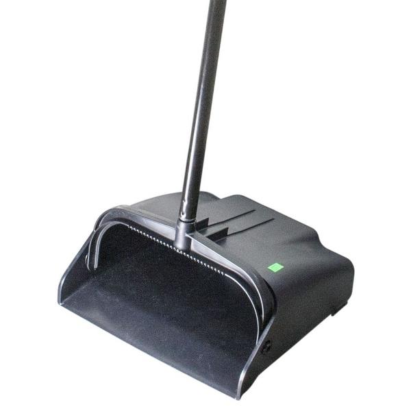 "Continental Commercial 912BK Lobby Dust Pan 10-3/4""x12""x36-3/4"", Black"