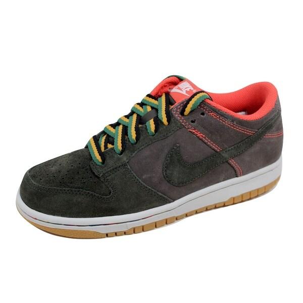 Nike Women's Dunk Low Newsprint/Dark Army-Gum Light Brown 308608-032