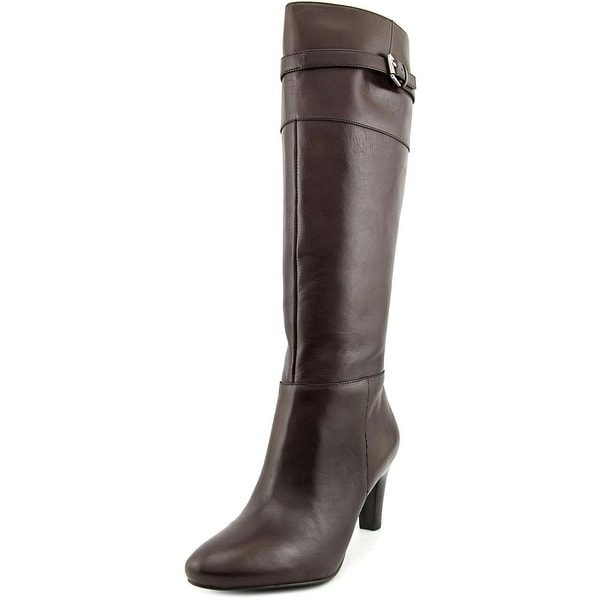 Lauren Ralph Lauren Susie Women Pointed Toe Leather Knee High Boot
