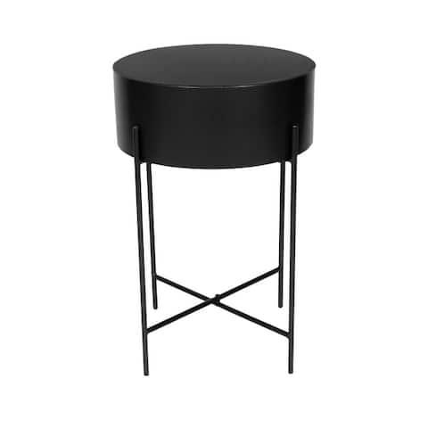 Aurelle Home Modern Round Iron Accent Table