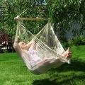 Sunnydaze Mayan Hammock Chair with Wood Spreader Bar & Hammock Stand - Thumbnail 1
