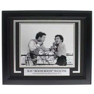 Ray Boom Boom Mancini Signed Framed 8x10 Punching Photo Fanatics