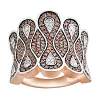 1.01 TCW Cognac Diamond and Diamond luxurious Ring