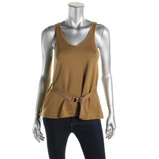 Zara W&B Collection Womens Scoop Neck Solid Tank Top - M