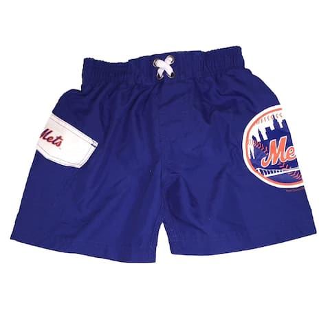 New York Mets Little Boys' Bathing Suit Swim Trunks - Blue - 2T