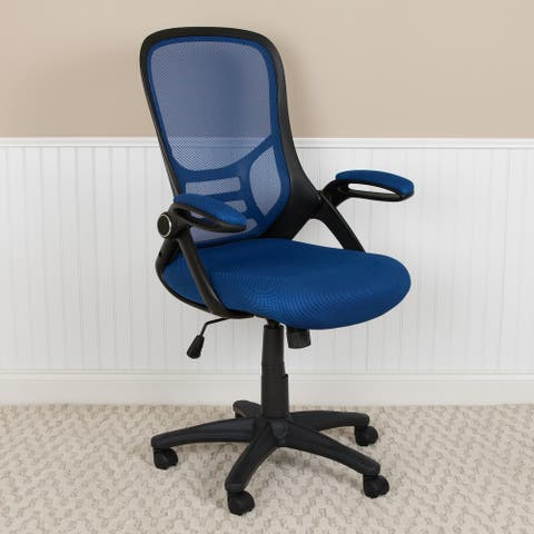 High Back Mesh Ergonomic Office Chair with Flip-up Arms