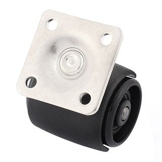 Home Office Chair Double Wheels Metal Square Top Plate Mounted Swivel Caster