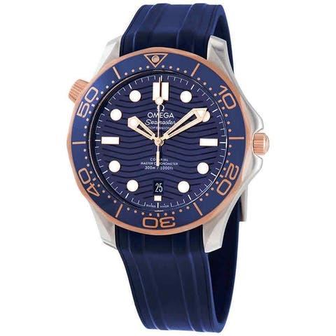 Omega Men's 210.22.42.20.03.002 'Seamaster' Blue Rubber Watch