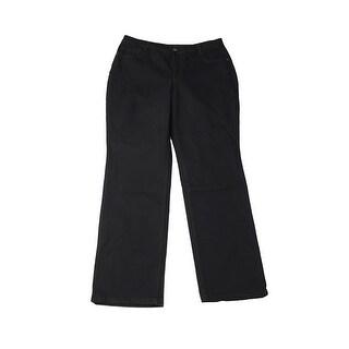 Style & Co. Plus Size Rip Black Slim-Leg Jeans 20W
