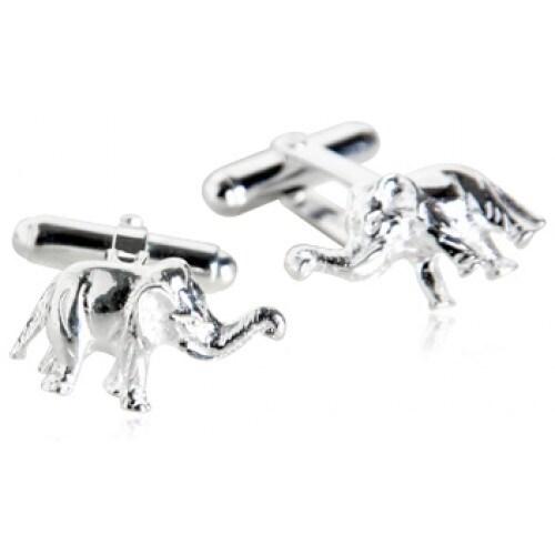 Elephant Cufflinks In Sterling Silver Animal