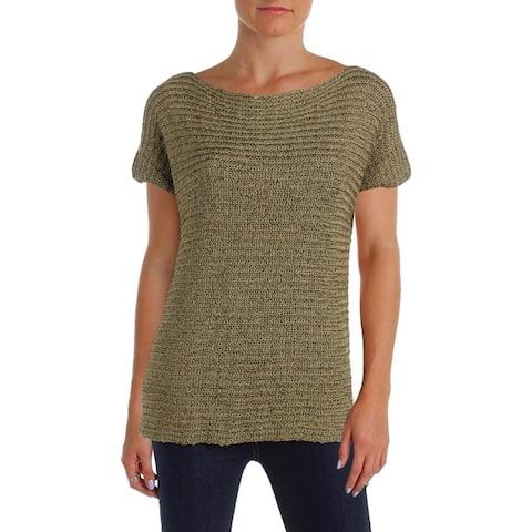 Lauren Ralph Lauren Womens Darbye Pullover Sweater Short Sleeve Shirt