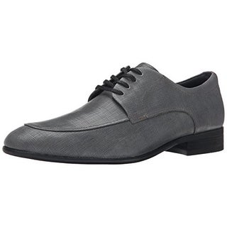 Calvin Klein Mens Valient Leather Derby Oxfords - 11 medium (d)