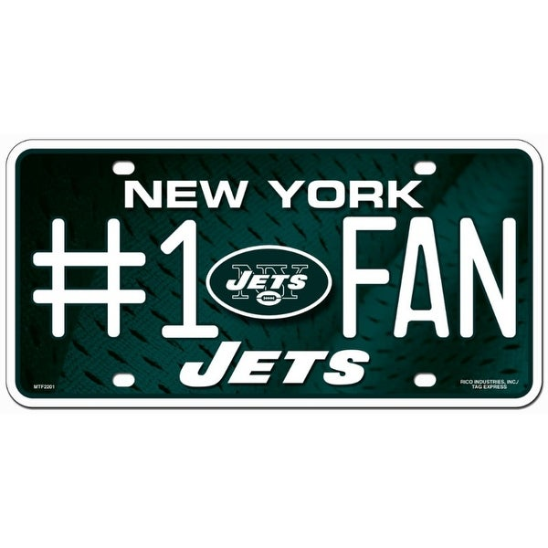 New York Jets License Plate 1 Fan Free Shipping On Orders Over
