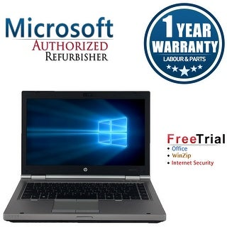 "Refurbished HP EliteBook 8470P 14"" Laptop Intel Core i5-3320M 2.6G 8G DDR3 1TB DVDRW W7P 64 1 Year Warranty - Silver"