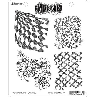 """Dyan Reaveley's Dylusions Cling Stamp Collections 8.5""""X7""""-Background Love"""