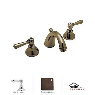 Rohl A2707LM-2 Verona Widespread Bathroom Faucet with Pop-Up Drain and Metal Lever Handles