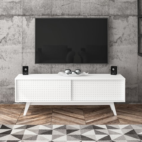 "Boahaus Albany TV Stand. TVs up to 60"", 01 Cabinet, 02 doors. - 59"""