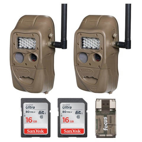 Cuddeback CuddeLink J Series Trail Camera (2) with 16GB Card (2) and Reader