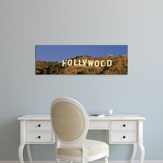 Easy Art Prints Panoramic Images's 'Hollywood Sign Los Angeles CA' Premium Canvas Art