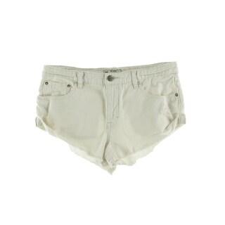 Free People Womens Denim Distressed Cutoff Shorts