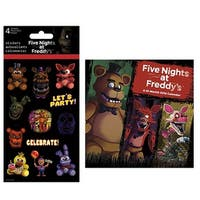 Five Nights at Freddy's 2018 Mini Calendar and Stickers Bundle - multi