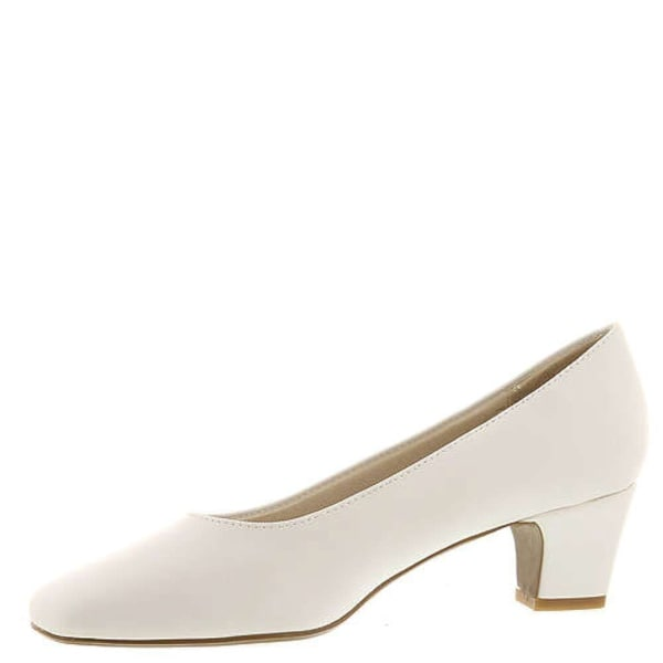 LifeStride Womens Jade Square Toe Classic Pumps, White Smooth, Size 7.5